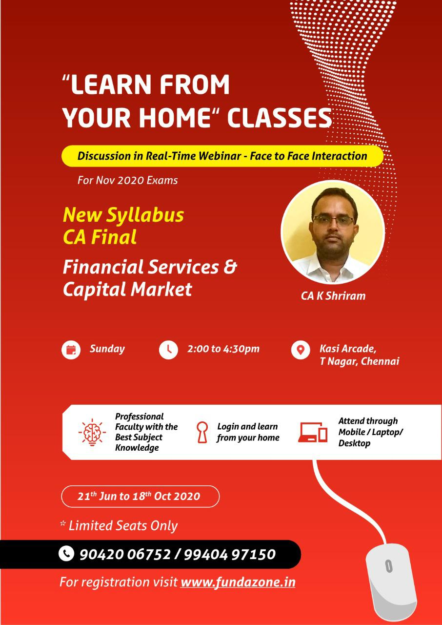 CA final Financial services & capital market class June 2020