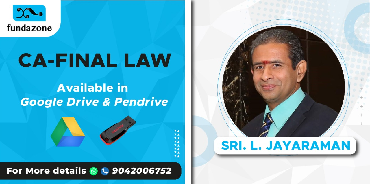 CA Final LAW pen drive and google drive classes